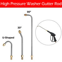 "High Pressure Elbow Washer Gutter Cleaner Lance/Wand 1/4"" Quick Connect"