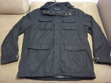 045 MENS NWOT BLAZER BLACK THICK LINED L/S JACKET LRG $130.