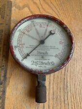 Very Early Thrush Boiler Gauge -4 Story Building HaThrush & Co Peru,Ind