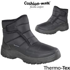 Mens Cushion Walk Snow Winter Grip Sole Ankle Boots Warm Lined Thermal Shoes Sz