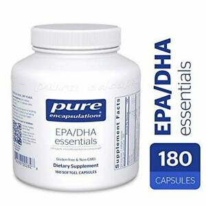 Pure Encapsulations - EPA/DHA Essentials - Ultra-Pure, Molecularly Distilled Fis