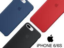 FUNDA DE SILICONA CON LOGO PARA iPHONE 6 6S Y iPHONE 6 6S PLUS NEGRA ROJA AZUL