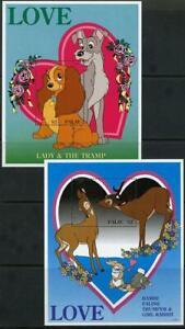 Palau: 1996 Disney Sweethearts Souvenir Sheets (394-395) MNH