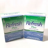 REFRESH Plus Lubricant Eye Drops - Pack of 30 Single- [Lot of 2].  2B68