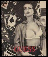 1991 Karen Mulder photo Guess fashions vintage print ad