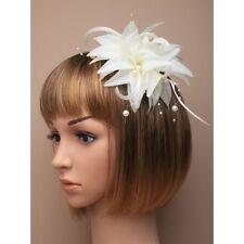 Wedding White/Cream/Ivory Flower/Hat Hair Flower Fascinator Clip/Comb/Headband
