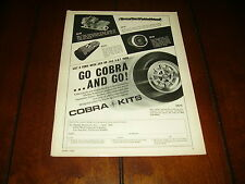 1967 SHELBY AMERICAN COBRA KITS PERFORMANCE PARTS   ***ORIGINAL VINTAGE AD***