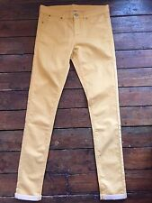 Topshop Moto Skinny Jeans Leigh Gold Sz 10 W28 To Fit L34 Ankle Grazer ~505