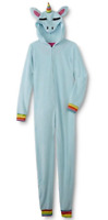 Unicorn Rainbow Womens Plus Size XL/1X  One Piece Pajamas Union Suit
