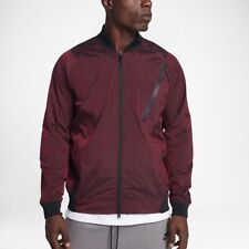 6f378c37c Men NIKE Sportswear Tech Hypermesh Varsity Jacket Burgundy XXL 3XL (832190  677)