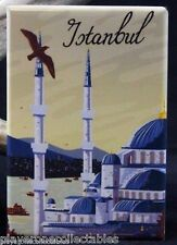 "Istanbul Travel Poster 2"" X 3"" Fridge / Locker Magnet. Turkey"