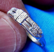Art Deco Diamond Anniversary Wedding Band Vintage Antique Platinum ETERNITY ring