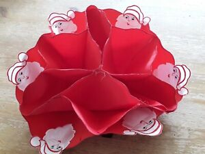 Red Material Father Christmas Bonbon Holder Space Saving