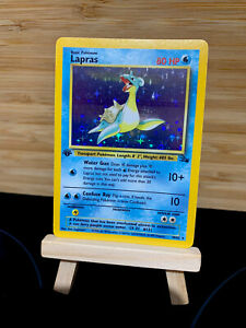 Lapras 10/62 1st Edition - WOTC - Fossil Set - Holo Rare Pokemon Card Vintage NM