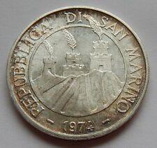 500 LIRE 1974 SAN MARINO-ARGENTO MONETA