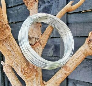 Garden Wire Strong Galvanised Rust Proof 1—36m Long 1-3mm Tying Fixing Training