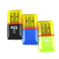 2Pcs USB 2.0 Mini    TF Flash Memory Card Reader Mini Adapter For Laptop JR