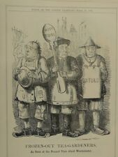"7x10"" punch cartoon 1857 FROZEN OUT TEA GARDENERS"