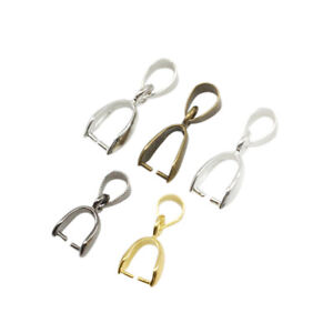 Pinch Clip Bail Connector Making Materials Clasps Hook Pendant