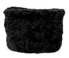 YVES SAINT LAURENT Fall 1976 Black Astrakhan Lambs Fur RUSSIAN Pillbox Hat