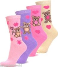 3 Pairs Ladies Teddy Design Thermal Socks Warm Winter Extra Thick Hiking Boot