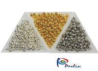525 Metallperlen Set Spacer Zwischenteile Schmuckherstellung 5mm Gold Silber