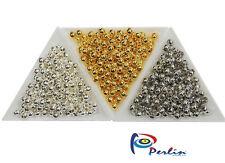 900 Metallperlen Set Spacer Zwischenteile Schmuckherstellung 4mm Gold Silber