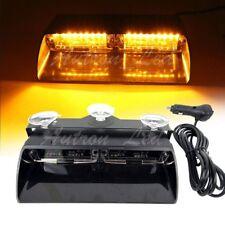 16W LED Warning Strobe Dash Flash Emergency Sucker Windshield Lights Amber Lamp