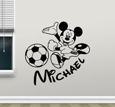 Personalized Mickey Mouse Wall Decal Custom Soccer Vinyl Sticker Decor 115crt