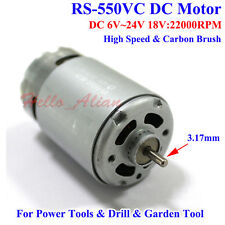 RS-550VC Motor DC 6V-24V High Speed Carbon Brush for Electric Drill Garden Tools