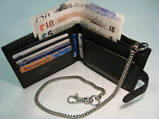 Gents Soft Leather Wallet with Security Chain
