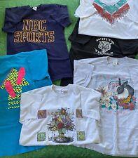 Lot Of 6 Vintage T-Shirt Wholesale Random 90s Single Stitched NBC Sports Misc