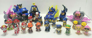 PAW PATROL Huge Lot of over 30p. action figures & vehicles NO REPEATS !