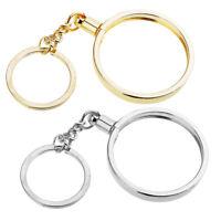 2x Coin Pendant Keychain Charm Key Chain Key Ring Friend Keyring Holder 40mm