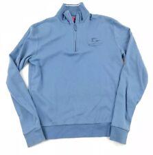PETER MILLAR Women's Size Small Blue Half Zip Golf Pullover Pima Cotton