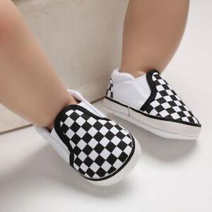 Infant Casual Shoes Newborn Baby Boy Crib Shoes Slip-on PreWalker Trainers 0-18M