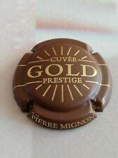 Capsule de Champagne PIERRE MIGNON Prestige Gold Doré à l'or Fin Marron et Or.