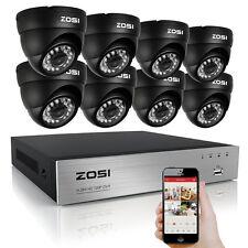 ZOSI 8CH 720P AHD DVR 1500TVL 24IR Leds IR-Cut Cámara Video Vigilancia Exterior