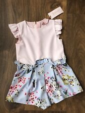 New Ted Baker Girls Playsuit Jumpsuit Size 3-4 Years