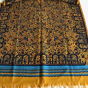 HERMES Les Jardins d'Armenie cashmere silk shawl