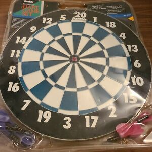 Vintage Franklin Double Sided 18in Dart Board  English 20 Point/ Baseball New