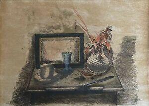 Piero Vignozzi litografia natura Morta 70x50 firmata numerata