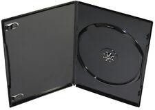 100 Amaray DVD Hüllen Slim 1er Box 7 mm für je 1 BD / CD / DVD schwarz