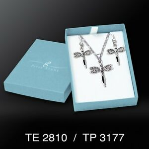 Dragonfly .925 Sterling Silver Boxed Set by Peter Stone