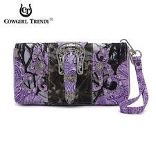 Camouflage Buckle Concealed Carry Purse Handbag Women Shoulder Bag Wallet Set