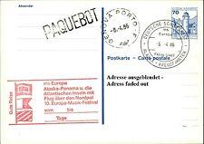 Schiffspost MS Europe paquebot cachet Genova porto 1986 Alaska panama voyage