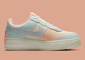 Nike Air Force 1 Low Shadow Sail Barely Green Orange CU8591-104 Women's Sizes