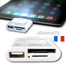 Adaptateur 5 en1 USB Connexion Lecteur Carte Kit SD TF mémoire Card iPad 4-5-Air