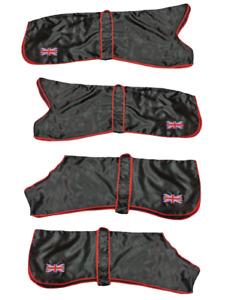 Pet Dog Greyhound Lightweight Silk Satin Snood winter Coat Shine Black Coats