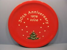 "Christmas Tree Dinner Plate 10"" 30th Anniversary Waechtersbach Germany NEW"